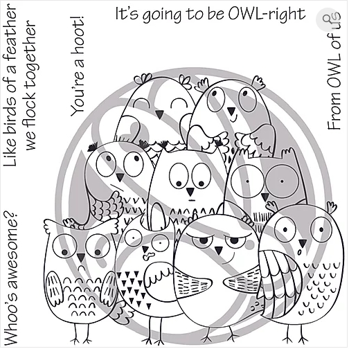 The Rabbit Hole Designs OWL-RIGHT Clear Stamps TRH-60 zoom image