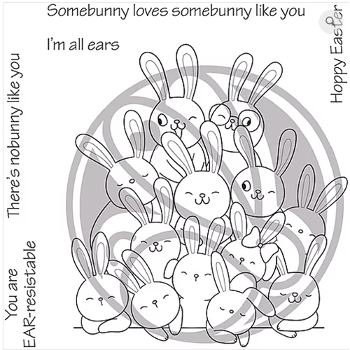 The Rabbit Hole Designs ALL EARS Clear Stamps TRH-58 Preview Image