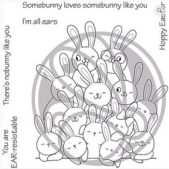 The Rabbit Hole Designs ALL EARS Clear Stamps TRH 58*