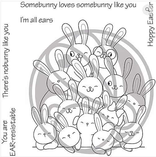 The Rabbit Hole Designs ALL EARS Clear Stamps TRH-58 zoom image