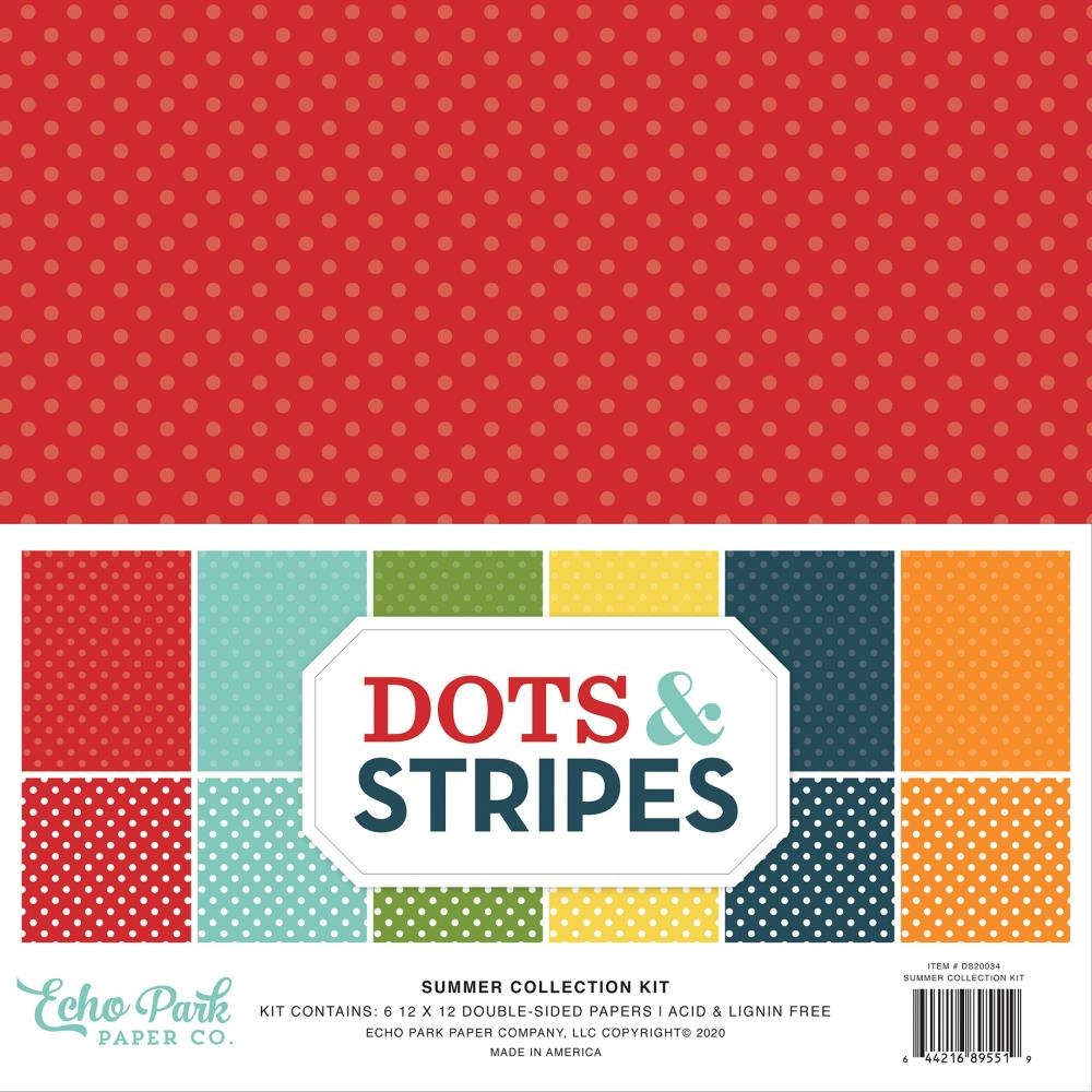 Echo Park SUMMER DOTS AND STRIPES 12 x 12 Collection Kit ds20034 zoom image