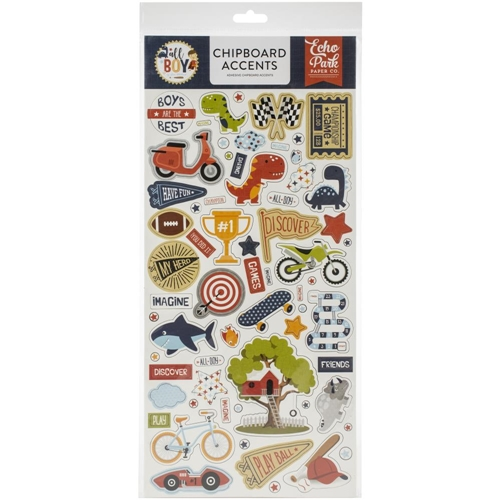 Echo Park ALL BOY Chipboard Accents alb207021 Preview Image