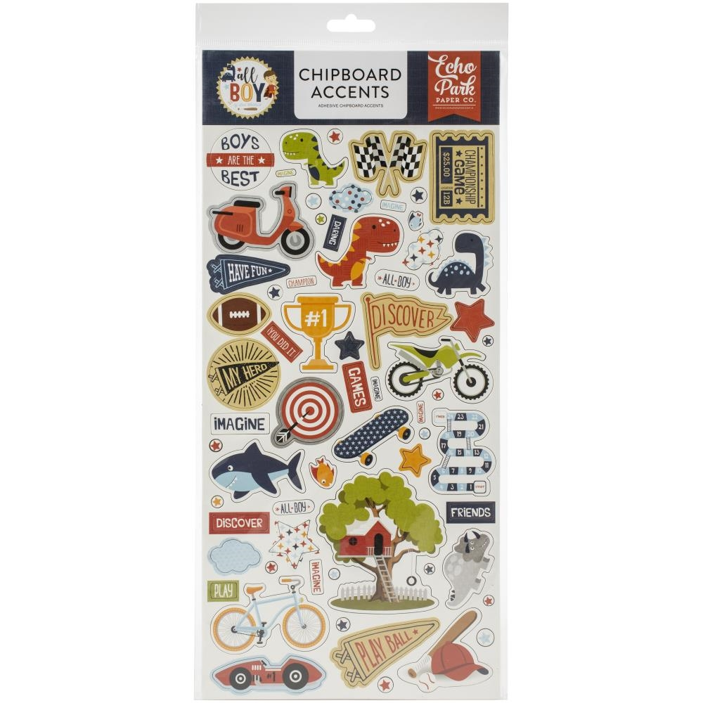 Echo Park ALL BOY Chipboard Accents alb207021 zoom image