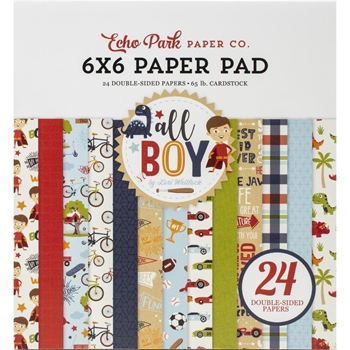 Echo Park ALL BOY 6 x 6 Paper Pad alb207023