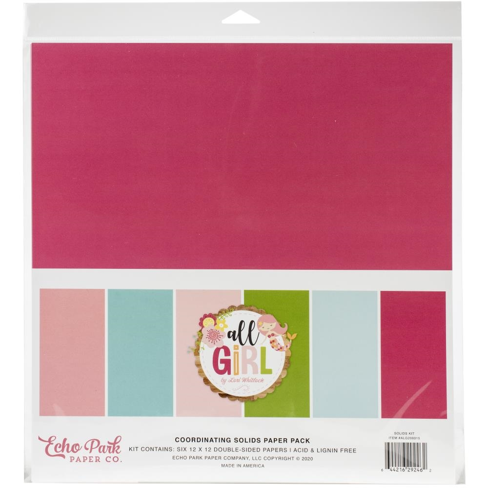 Echo Park ALL GIRL 12 x 12 Solids Paper Pack alg206015 zoom image