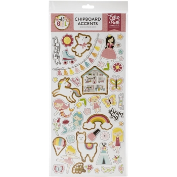 Echo Park ALL GIRL Chipboard Accents alg206021