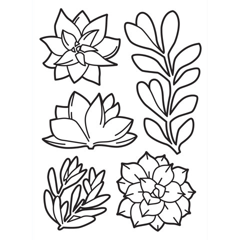 Darice SUCCULENTS Embossing Folder 30023122 Preview Image