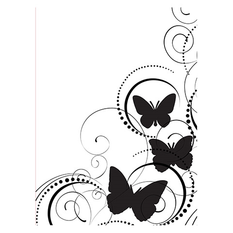 Darice BUTTERFLY SWIRL Embossing Folder 121664 Preview Image