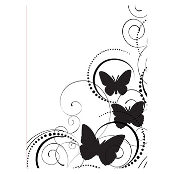 Darice BUTTERFLY SWIRL Embossing Folder 121664