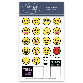Technique Tuesday EMOJIS Clear Stamps 2664*