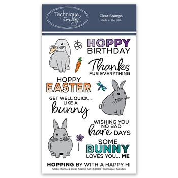 Technique Tuesday SOME BUNNIES Clear Stamps 2829*