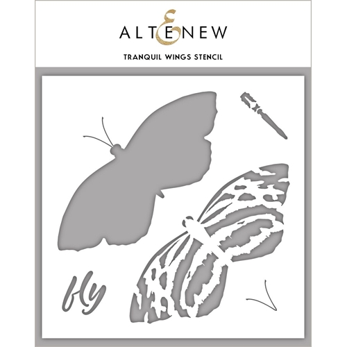 Altenew TRANQUIL WINGS Stencil ALT3992 Preview Image