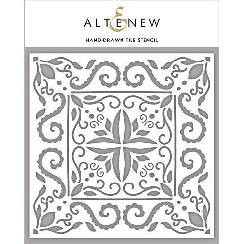 Altenew HAND DRAWN TILE Stencil ALT3990 Preview Image