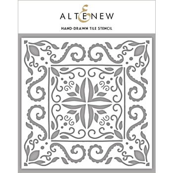 Altenew HAND DRAWN TILE Stencil ALT3990