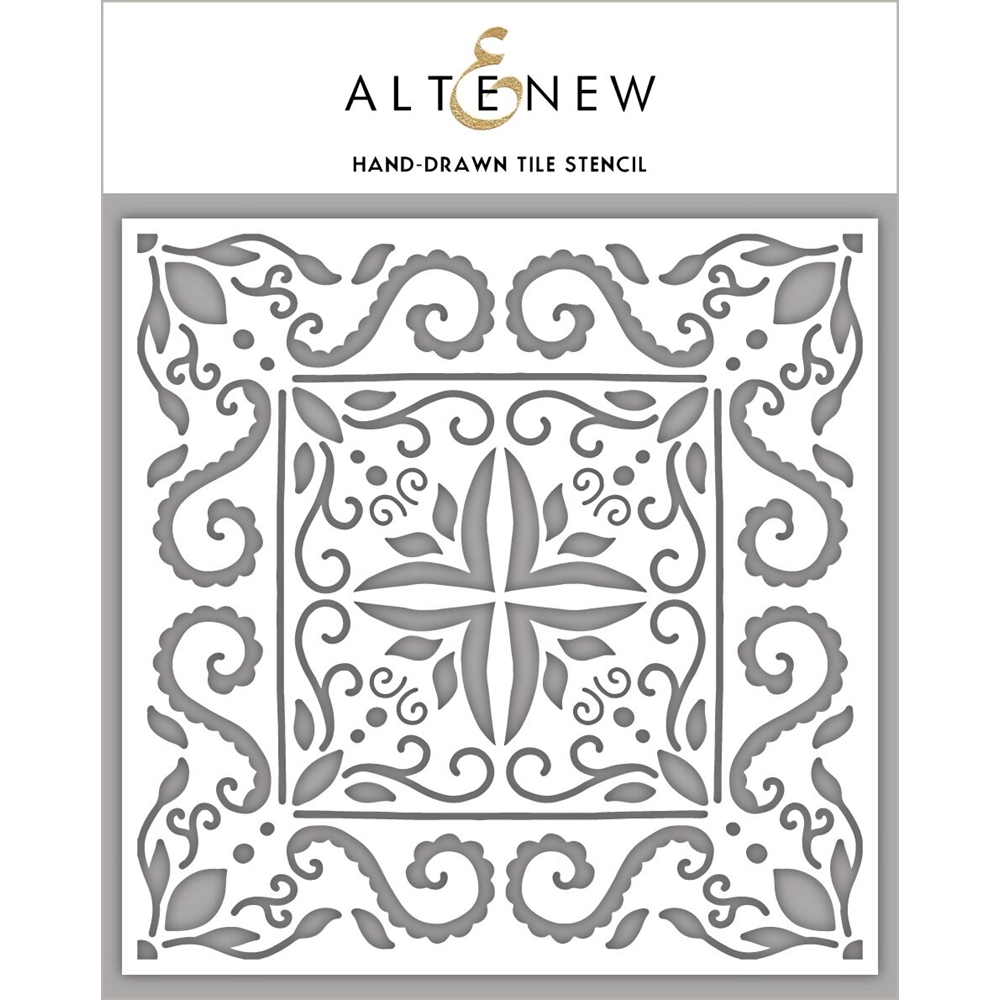 Altenew HAND DRAWN TILE Stencil ALT3990 zoom image