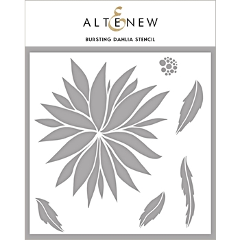 Altenew BURSTING DAHLIA Stencil ALT3988