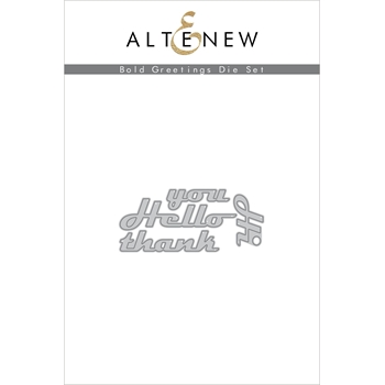 Altenew BOLD GREETINGS Dies ALT3907