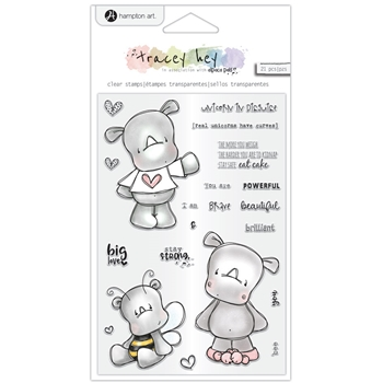 Hampton Art RHINO RASCALS Clear Stamps sc0972
