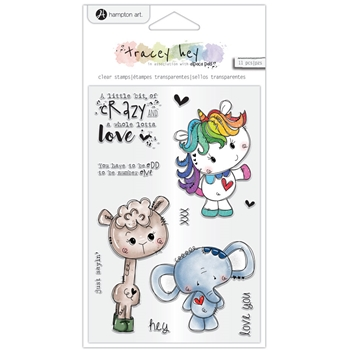 Hampton Art LITTLE BIT CRAZY Clear Stamps sc0976