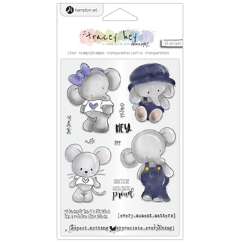 Hampton Art HEY CUTIE Clear Stamps sc0981