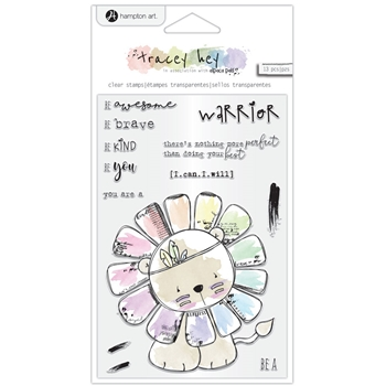 Hampton Art WARRIOR Clear Stamps sc0982