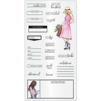 Hampton Art PREGNANCY TRACKER Clear Stamps sc0970