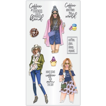 Hampton Art COFFEE THE THE WORLD Clear Stamps sc0967