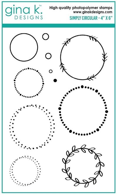 Gina K Designs SIMPLY CIRCULAR Clear Stamps 6361 zoom image