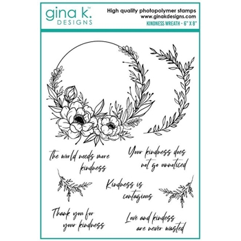 Gina K Designs KINDNESS FRAME Clear Stamps 6378