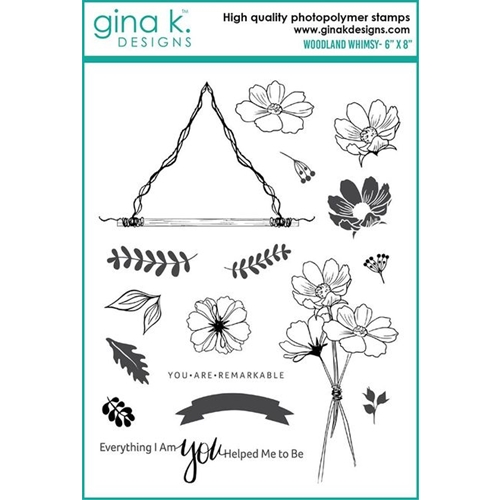 Gina K Designs WOODLAND WHIMSY Clear Stamps 6392 Preview Image