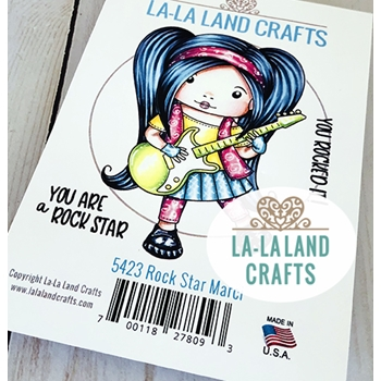La-La Land Crafts Cling Stamps ROCK STAR MARCI 5423