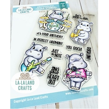 La-La Land Crafts Clear Stamps ROCK ON CL050