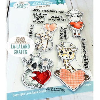 La-La Land Crafts Clear Stamps IN MY HEART CL053