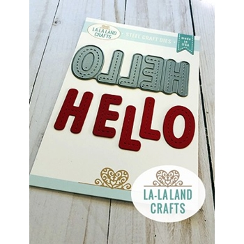 La-La Land Crafts STITCHED HELLO Die 8512