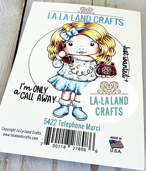 La-La Land Crafts Cling Stamps TELEPHONE MARCI 5422