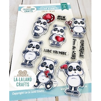 La-La Land Crafts Clear Stamps GREAT NEWS CL052