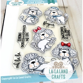La-La Land Crafts Clear Stamps POODLES OF LOVE CL051