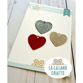 La-La Land Crafts HEART LOCKET Die 8506