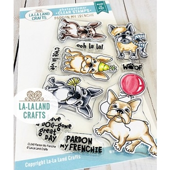 La-La Land Crafts Clear Stamps PARDON MY FRENCHIE CL049