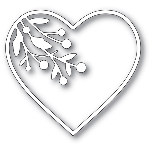 Memory Box BERRY BRANCH LOVING HEART Craft Die 94374 Preview Image