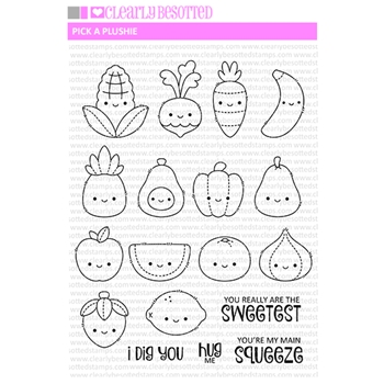 Clearly Besotted PICK A PLUSHIE Clear Stamps