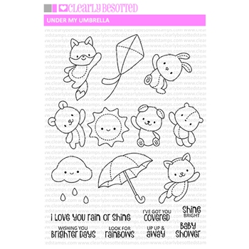 Clearly Besotted UNDER MY UMBRELLA Clear Stamps