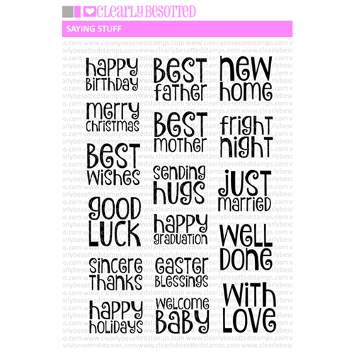 Clearly Besotted SAYING STUFF Clear Stamps Preview Image