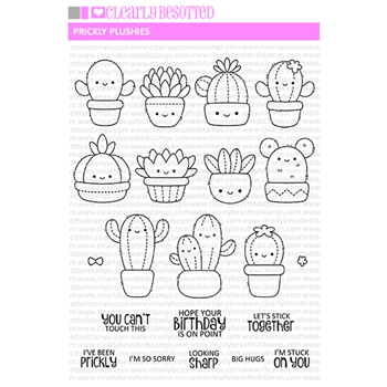 Clearly Besotted PRICKLY PLUSHIE Clear Stamps
