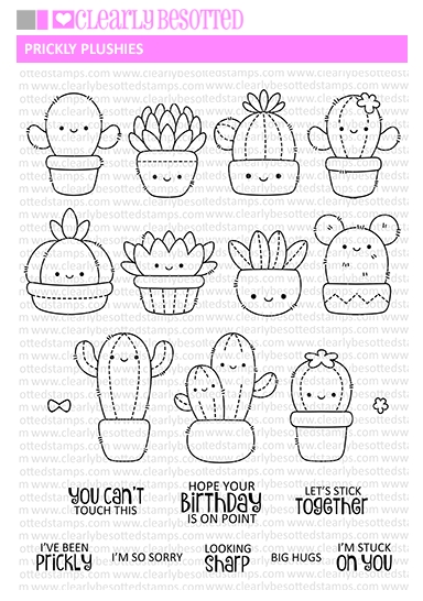 Clearly Besotted PRICKLY PLUSHIE Clear Stamps zoom image