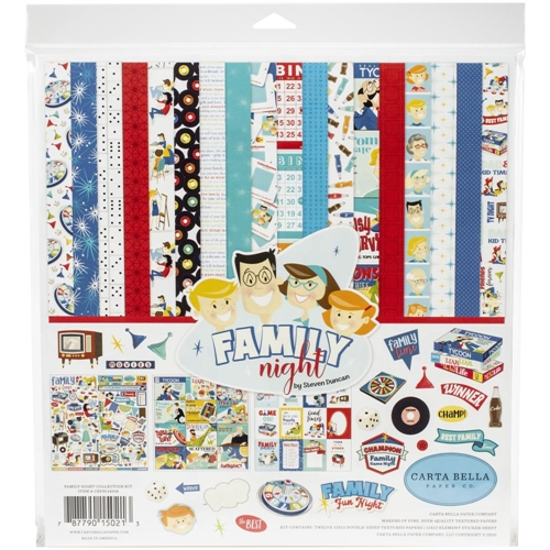 Carta Bella FAMILY NIGHT 12 x 12 Collection Kit cbfn114016 Preview Image