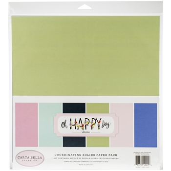 Carta Bella OH HAPPY DAY 12 x 12 Solids Kit cbohd112015