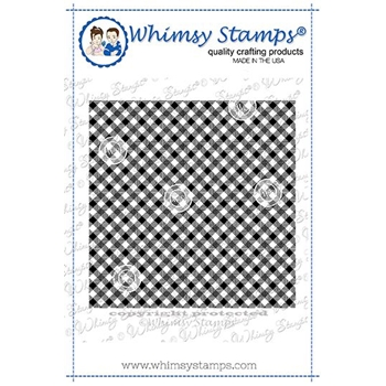 Whimsy Stamps CRISS CROSS GINGHAM Background Cling Stamp DDB0038