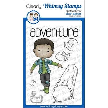 Whimsy Stamps POLKA DOT PALS RADEN Clear Stamps BS1006