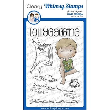 Whimsy Stamps POLKA DOT PALS HARLEY Clear Stamps BS1005